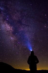 Gazing at the night sky